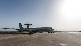 NATO air surveillance aircraft supporting counter-terrorism efforts by the Global Coalition to Defeat ISIS
