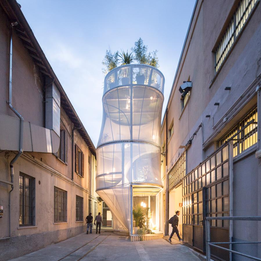 """SO-IL and MINI create an air-filtering house that """"contributes to improving urban life"""""""
