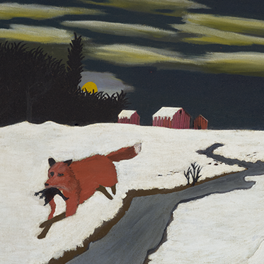 """""""The Getaway"""" (detail) by Horace Pippin"""